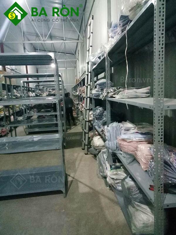 Thanh lý kệ sắt v lỗ 4 tầng 08